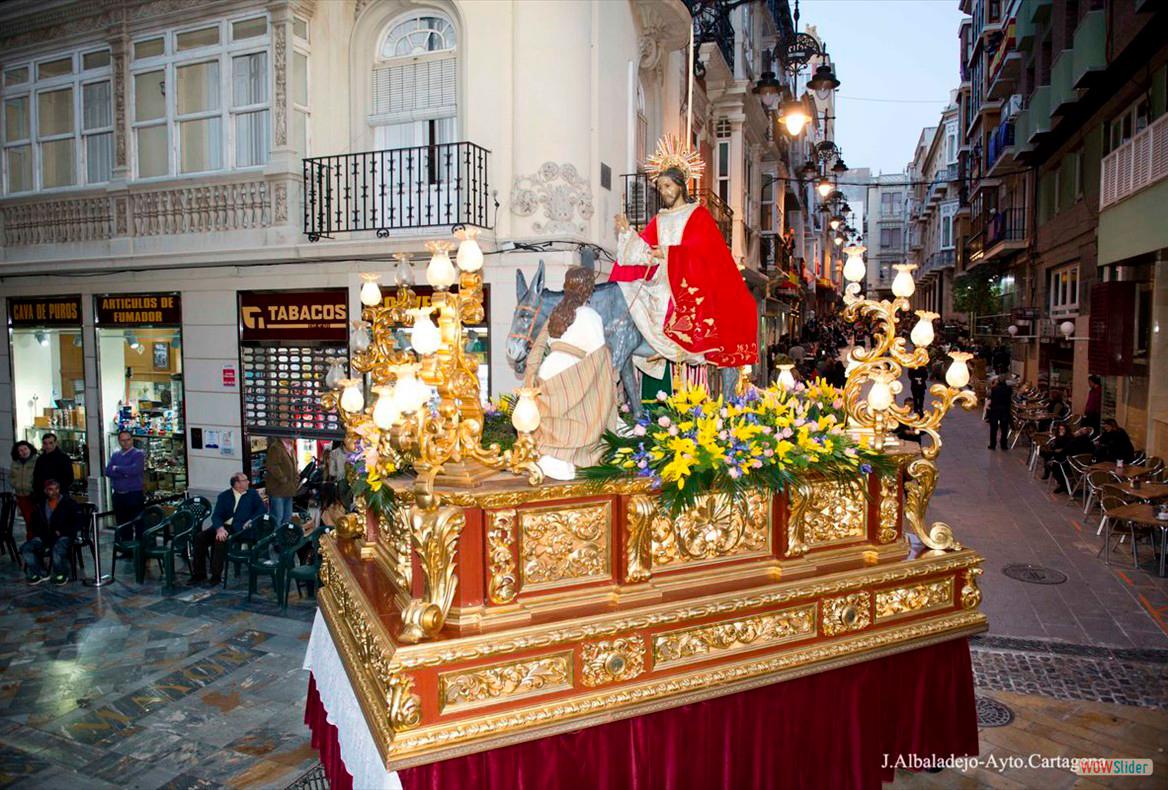 Trono de la Burrica. Domingo de Ramos